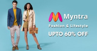 Myntra Hot Deal : Extra Rs. 300 OFF & Free Delivery on First Order