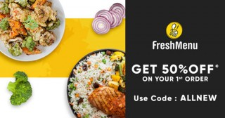 Freshmenu Extra 10% Off on Orders of Rs. 250 & above (Main Course)