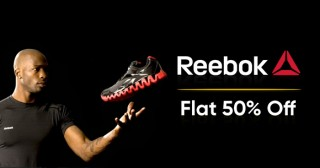 Reebok Running Shoes Deal : MIn. 30% OFF on Men's Footwear