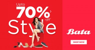 Bata Flat 25% Off on Hush Puppies Footwear on Min. Purchase of Rs. 2499 & above