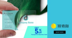 100yellow Get 5% OFF on Transparent Business Cards
