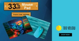 100yellow Get Upto 33% OFF on Mouse Pad