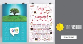 100yellow Best Price : Designed Wall Calendar Starting From Rs. 165