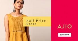 Ajio Flat 50% Off on Halfprice Store.