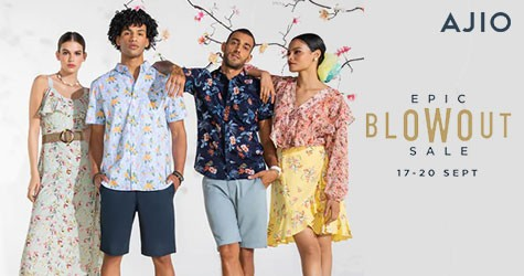 Ajio Epic Blowout Sale : 50% - 80% Off (17 Sep to 20 Sep '21)