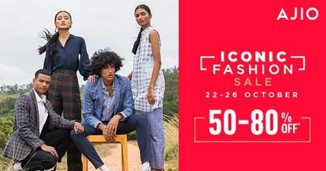 Iconic Fashion Sale : 50% - 80% OFF (22 Oct to 26 Oct '20)