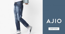 Ajio Men's Jeans & Trousers Upto 40% - 50% OFF