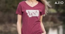Ajio Mega Deal : Ladies T-Shirts Buy 2 at Rs. 699