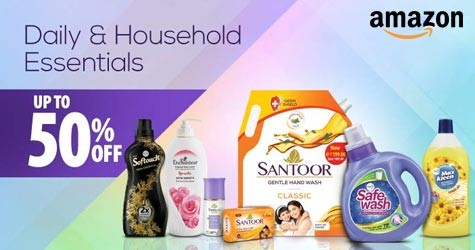 Mega Offer : Upto 50% OFF on Daily & Household Essentials