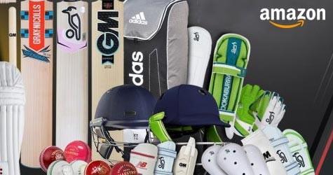 Amazon Cricket Store : Upto 50% Off on Balls, Bats, Cricket Kits, Wickets etc.