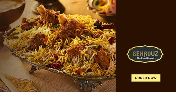 Behrouzbiryani New User Offer : Get 15% Off on Orders of Rs. 300 & Above