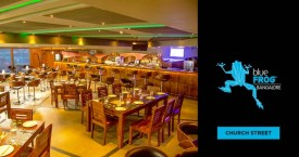 Blue frog Happy Hours: Buy 2 Get 1 on IMFL Drinks