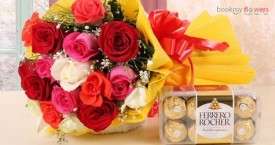 Bookmyflower Special Offer : Flowers and Chocolates Combo Starting From Rs. 549