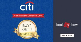 Bookmyshow Citi Bank World Debit Card Offer - Buy 1 Get 1 Ticket Free.
