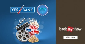 Bookmyshow Yes Bank Credit Cards : Flat 25% Off on Movie Tickets.