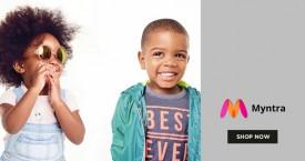 Myntra Min 40% Off on Kids Wear.