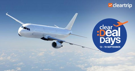 Cleartrip Clear Deal Days : 15% Off Upto Rs. 1250 on Domestic Flights