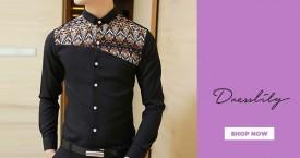 Dresslily Amazing Deal : Upto 55% Off on Men's Wear