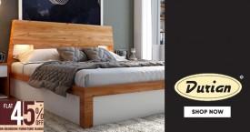 Durian Hot Deal : Upto 45% Off on Bedroom Furnitures