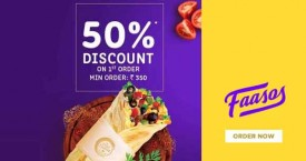 Faasos Faasos Offer : Get 50% Discount on Your First Order