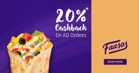 Faasos Get 20% Cashback On All orders.