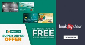 Bookmyshow Buy 1 Ticket and Get 1 Ticket Free with select IDBI Bank Credit cards