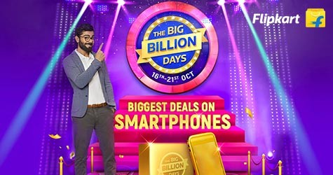 The Big Billion Days : Upto 50% OFF on Mobiles  (16 Oct to 21 Oct '20)