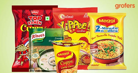 Grofers Amazing Offer : Upto 40% Off on  Noodles, Sauces & Instant Food