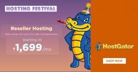 Hostgator Best Offer : Reseller Hosting Starting From Rs. 1699
