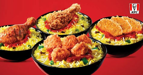 Kfc Mega Offer : Rice Bowl Starting From Rs. 159