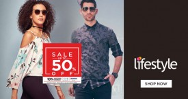 Lifestyle New User Offer : Flat Rs. 500 Off on Min. Purchase of Rs. 2,000