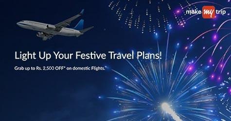 Makemytrip Offer : Grab Upto Rs. 2,500 OFF* on Domestic Flights.