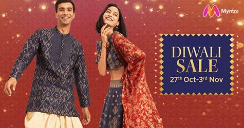Myntra Diwali Sale : 50% - 80% Off (27 Oct to 3 Nov '21)