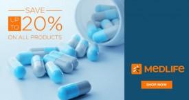 Medlife Get Upto 20% Off on Medicines + 20% E-cash points + 20% Mobikwik Super cash