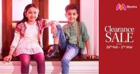 Myntra Clearance Sale : Kids Wear 50% - 70% Off (26 Feb to 2 Mar '21)