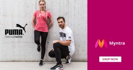 Myntra Best Deal : Upto 60% OFF on Puma Shorts Shoes, Casual Shoes, T-shirts & More