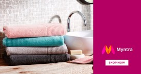 Myntra Great Deal : Upto 80% Off on Bath Towels, Bath Rugs, Hand Towels, Face Towels, Beach Towels