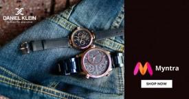 Myntra Min 40% Off on Daniel Klein Watches.