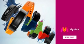Myntra Gadgets : Upto 80% Off on Headphones, Speakers, Smart Watches, Fitness Bands
