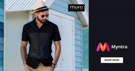 Myntra Min 50% OFF on Mufti At Myntra