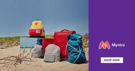 Myntra Min 40% Off on Men's Bags & Backpacks.