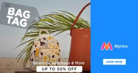 Myntra Upto 60% Off on Women's Handbags.