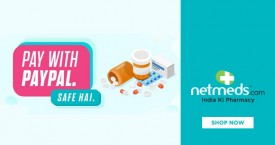 Netmeds Paypal Offer : Get 50% Cashback on All Products