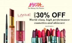 Nykaa Upto 30% Off on Lakme.
