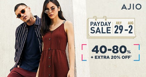 Payday Sale : 40% - 80% OFF (29 Jul to 2 Aug '20)