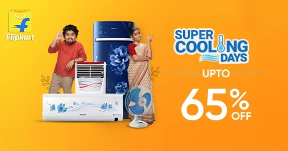 Super Cooling Days : Upto 65% Off on Air Conditioners, Air Coolers etc. (22 May to 27 May '20)