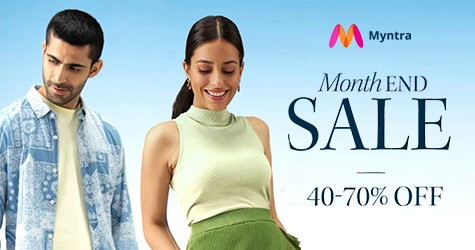 Myntra Offer : Month End Sale 40% - 70% OFF