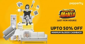 Pepperfry Furniture Mania : Upto 50% OFF