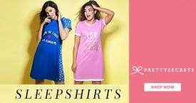 Prettysecrets Best Price : Women's Sleepshirts Starting From Rs. 849