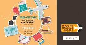 Sastiticket Sasti Ticket Rupay Offer : Get Upto Rs.5000 OFF on International Flights